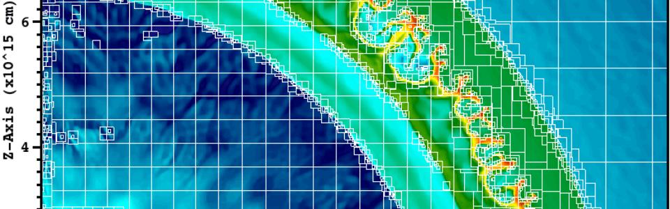 Hypernovae simulation