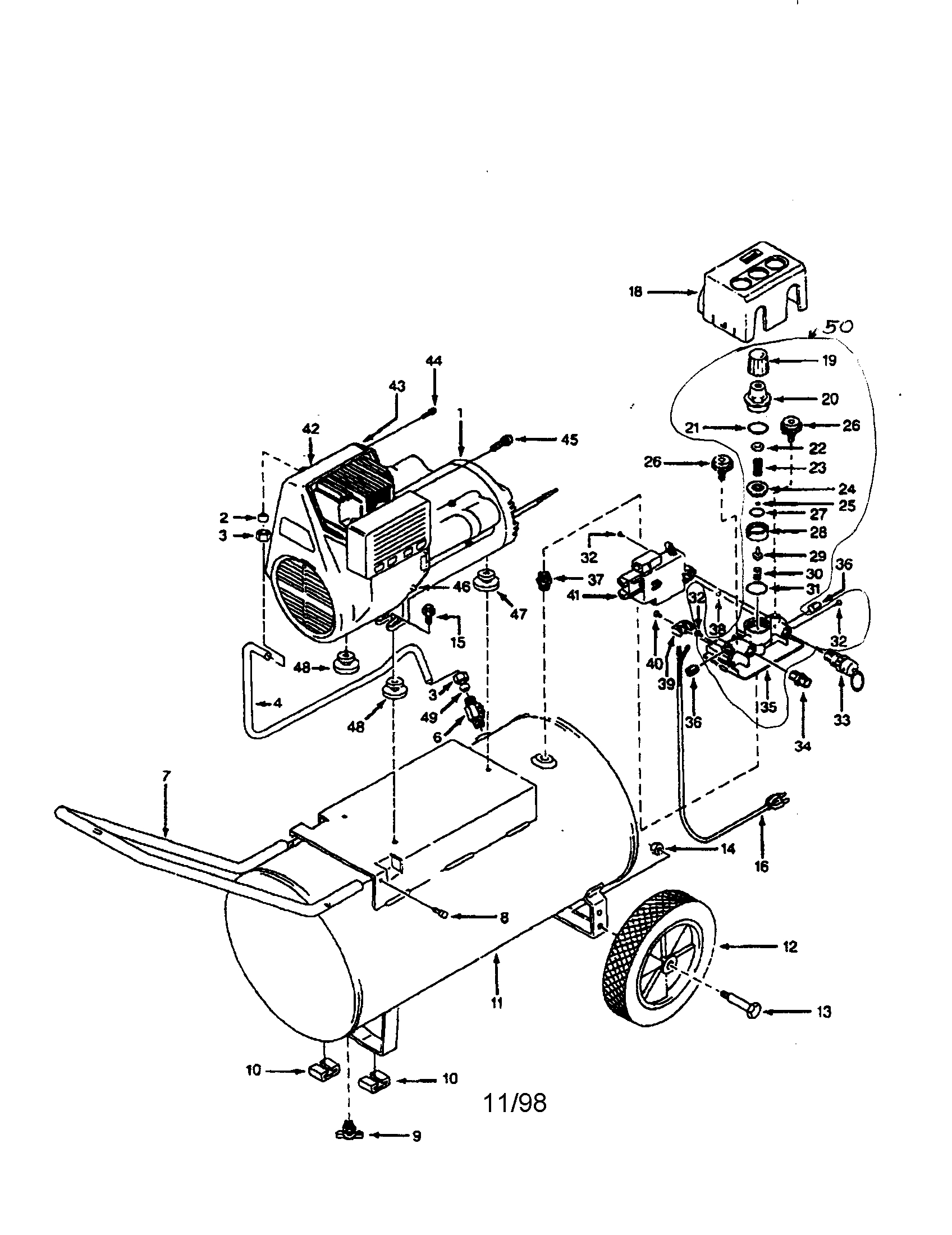 Campbell Hausfeld Air Compressor Parts Diagram