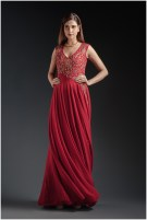 Red Gown from SumonaCouture by Sumona Parekh