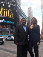 Sonakshi Sinha with Sabbas Joseph at Times Square