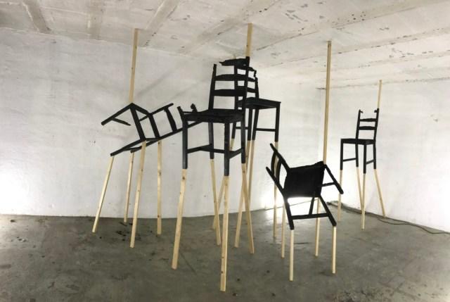 Expositie / Exhibition Rudie van den Berg in EXbunker kunst tentoonstelling ruimte / art space Utrecht.