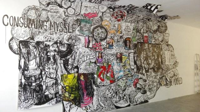 Expositie / Exhibition Bente Wilms in EXbunker tentoonstelling ruimte art space Utrecht.