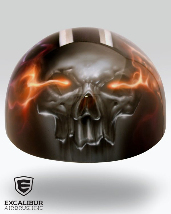 King Motorcycle Helmet Designed And Airbrushed