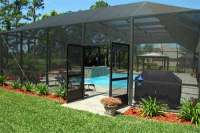 screened-pool-enclosures | Iron workers | Wood Fence ...