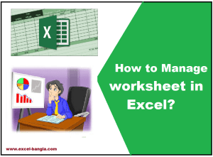 how to manage excel sheet?