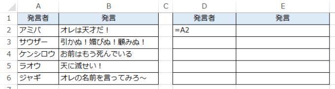相対参照の数式の図