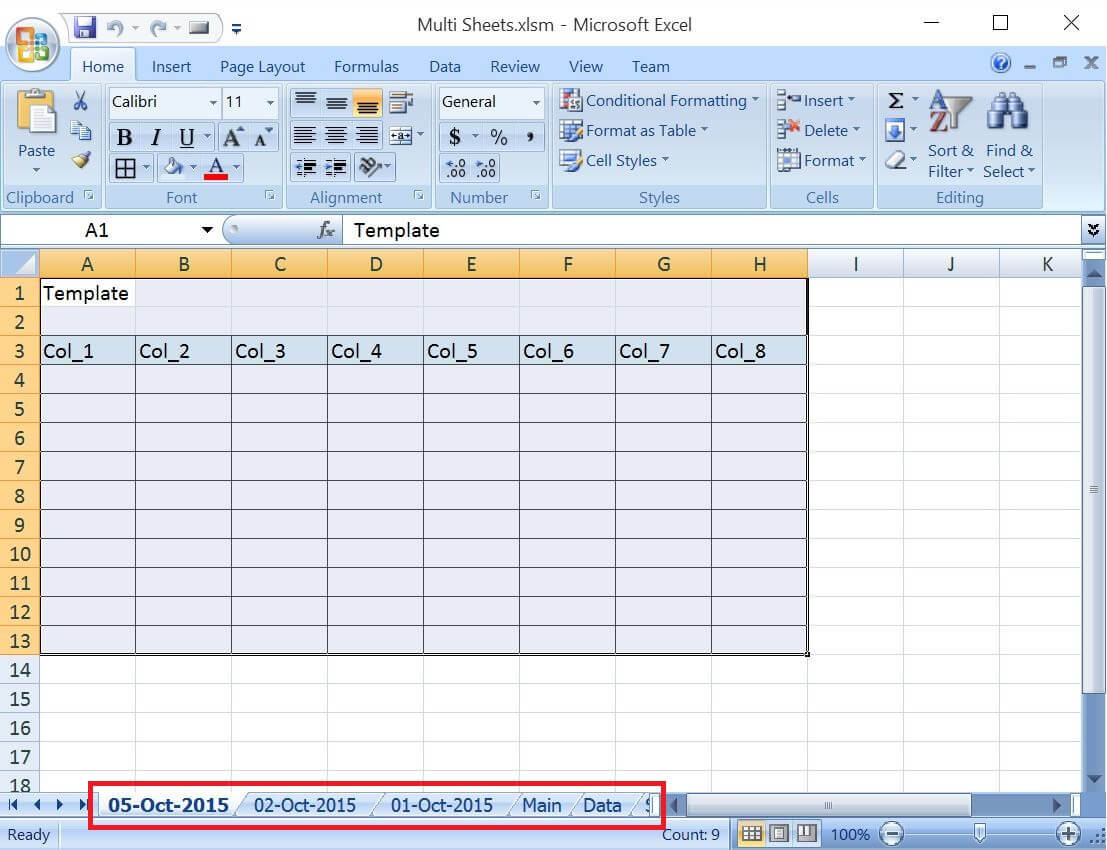 Bine Excel Worksheet Into One Workbook