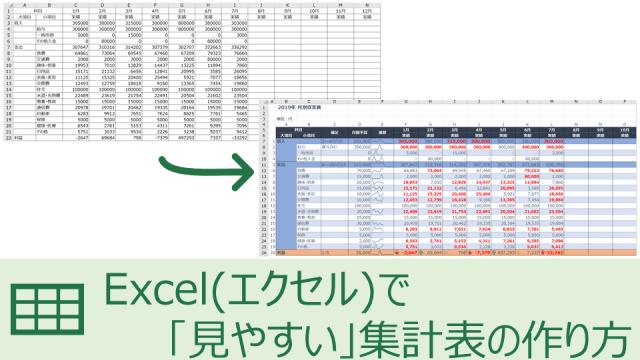 Excel(エクセル)で「見やすい」集計表の作り方