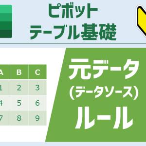 ピボットテーブルの元データ(データソース)にしたい表で守るべき5つのルール [ピボットテーブル基礎]