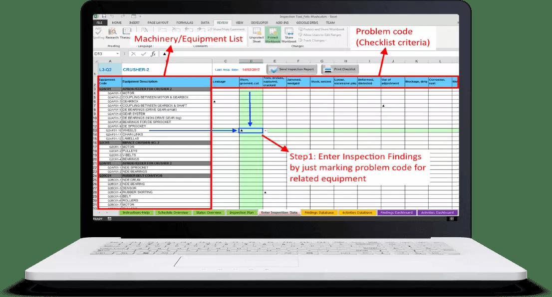 Inspection Findings screenshot