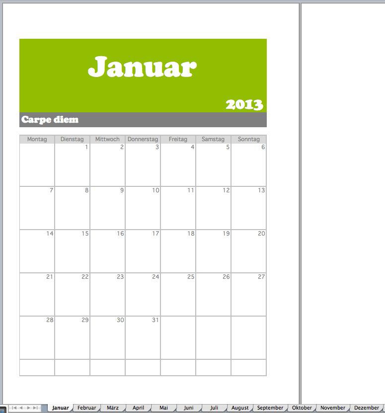 Monatsplan  Excel Vorlagen fr jeden Zweck