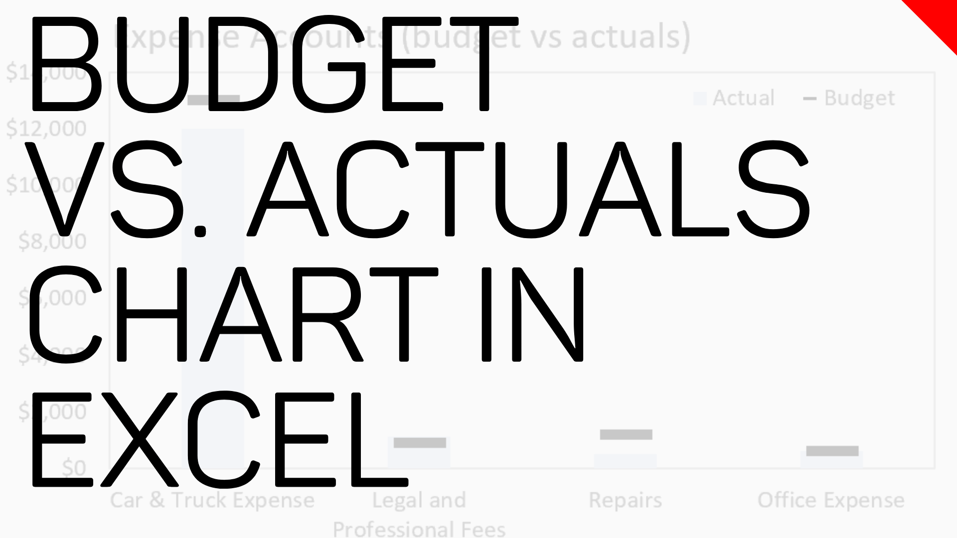 Budgets vs Actuals Target Chart in Microsoft Excel
