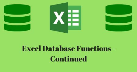 Database functions: The key to manage large sets of data continued