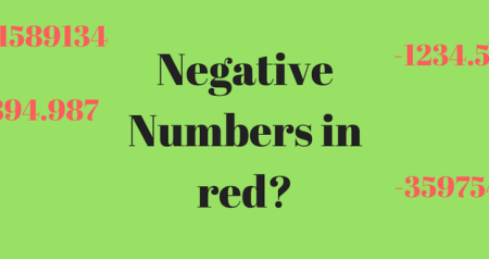 Negative numbers in Red in Excel?