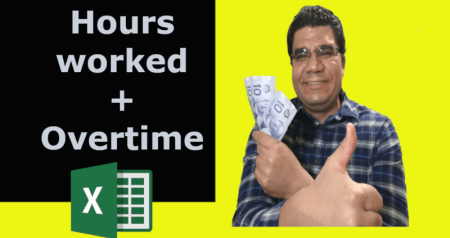 Hours worked and Overtime hours in Excel [Video]