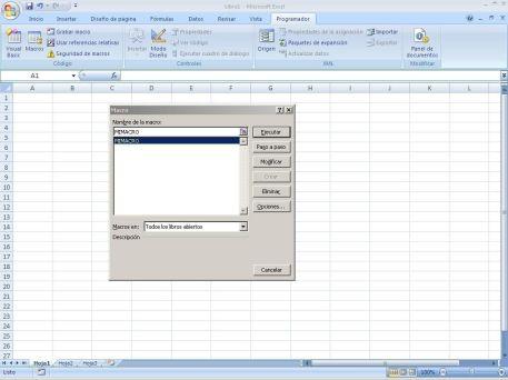 Macros sencillas en Excel
