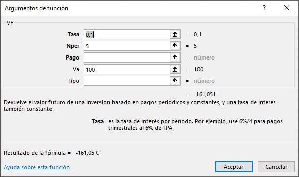 interés compuesto y cálculo Excel