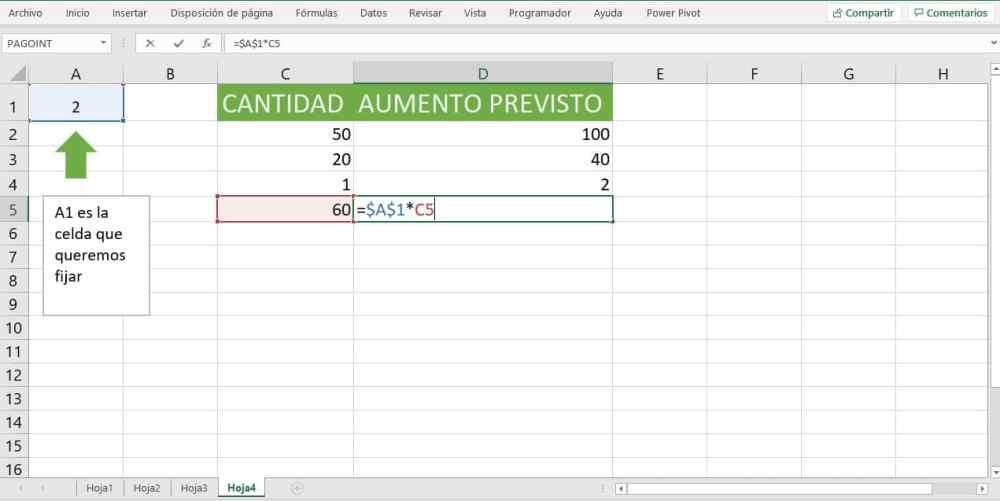 para que sirve la referencia absoluta en Excel