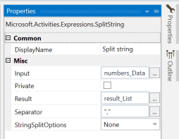 UiPath Split a string 4