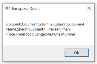 UiPath DataTable Transpose 4