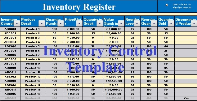 The use of an inventory template varies and may depend on whether. Download Inventory Management Excel Template Exceldatapro