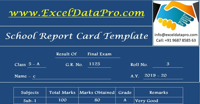 Bshs 375 week 2 database demographic information new by ch. Download School Report Card And Mark Sheet Excel Template Exceldatapro