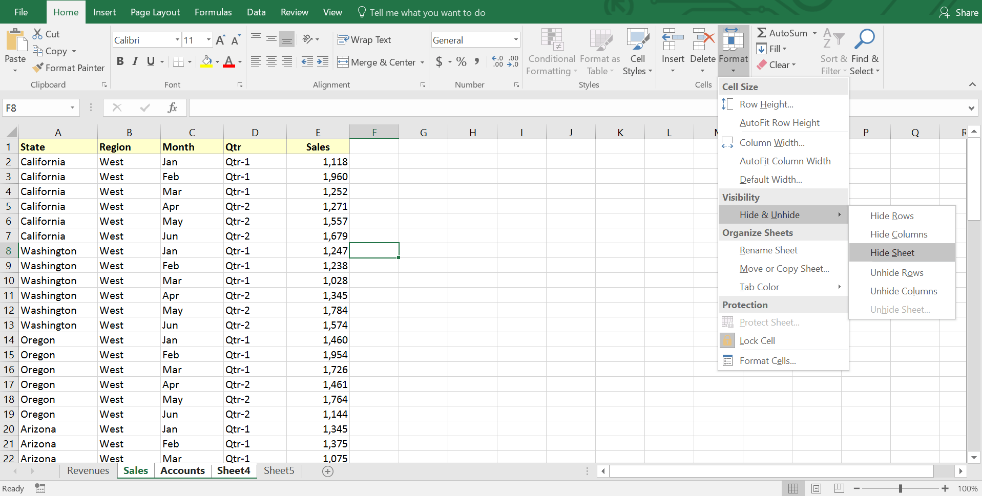 Hide And Unhide Excel Worksheets From A Workbook