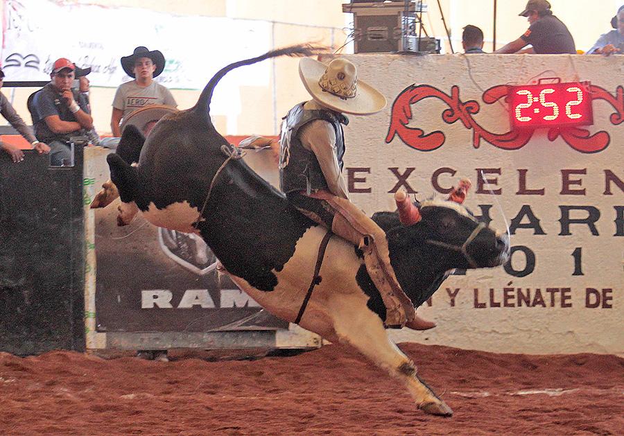 Soberbia la jineteada de toro de Arturo Castilleja de Tres Ases