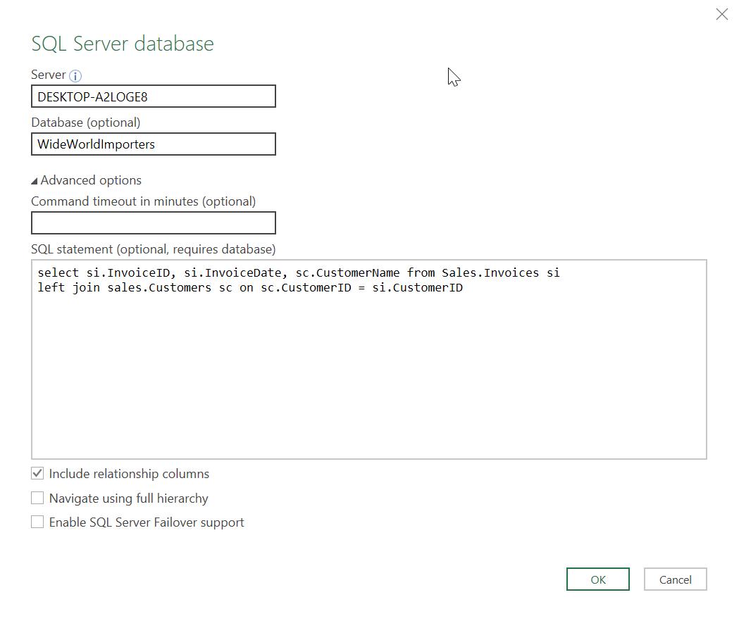 Excel Sql Query Three Ways