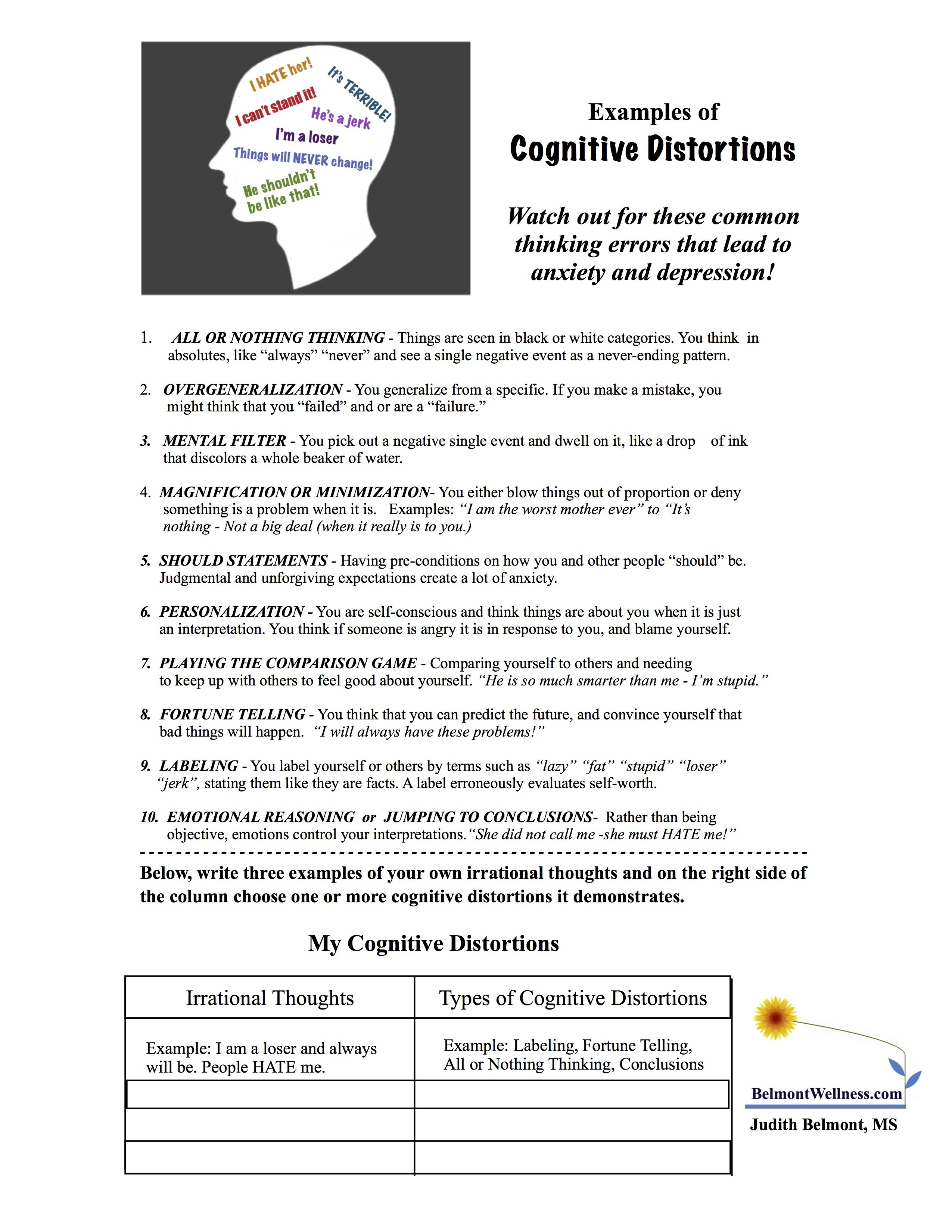 Acceptance And Commitment Therapy Worksheets