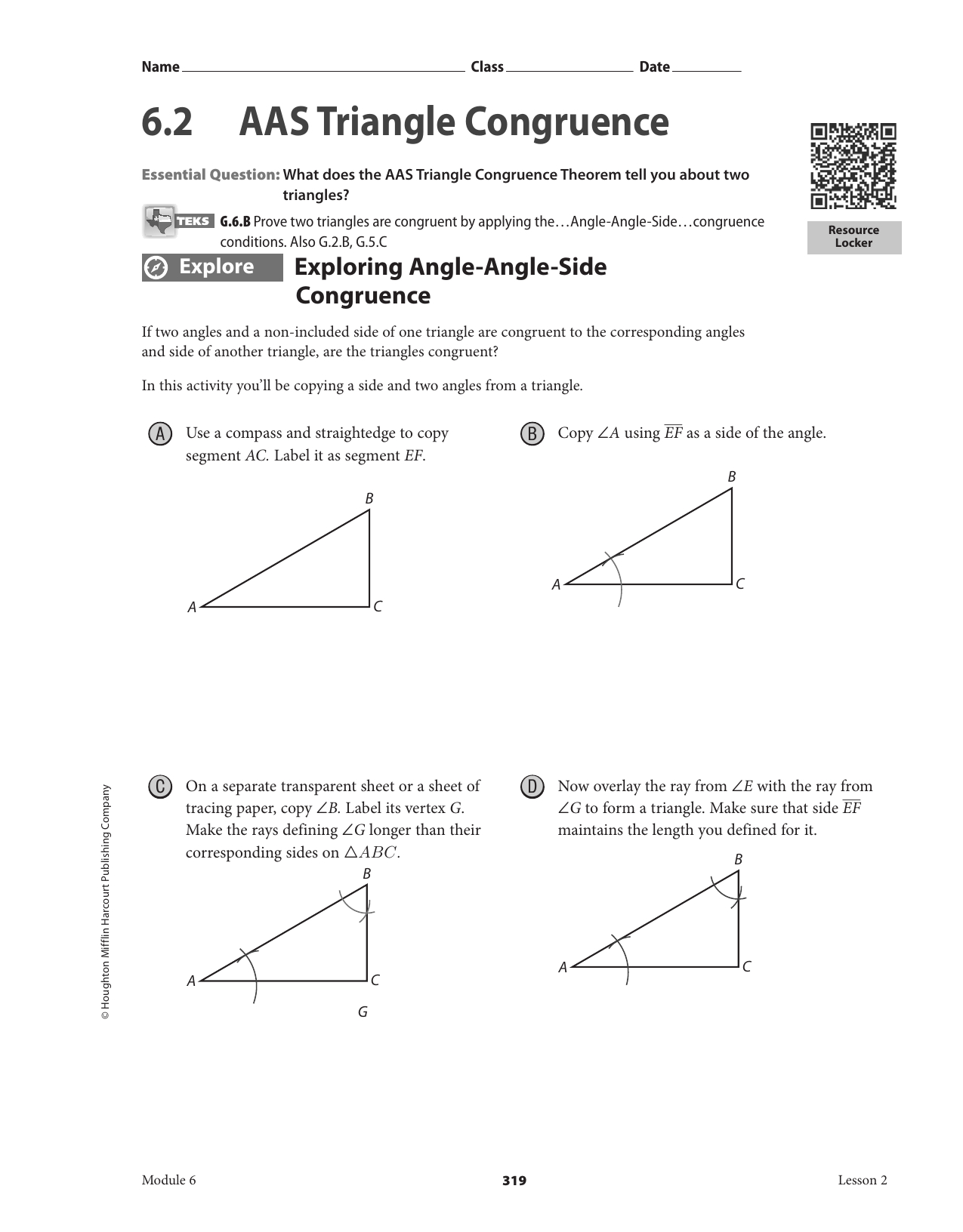 Congruent Triangles Worksheet Aas Hl Printable Worksheets And Activities For Teachers Parents Tutors And Homeschool Families