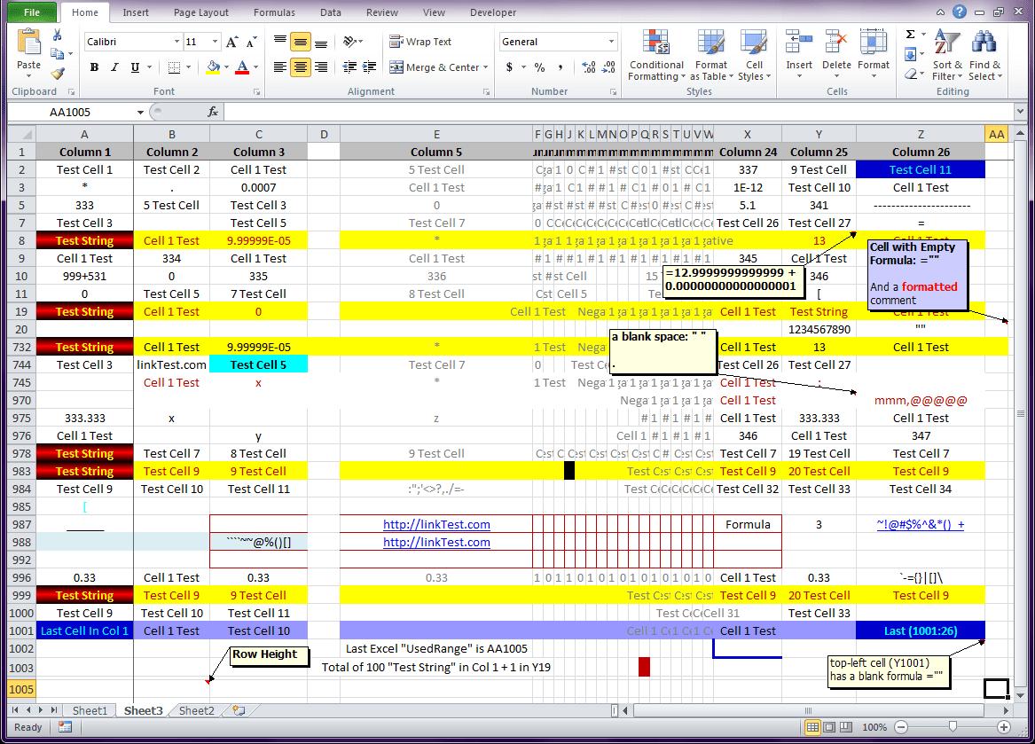 Excel Binary Format