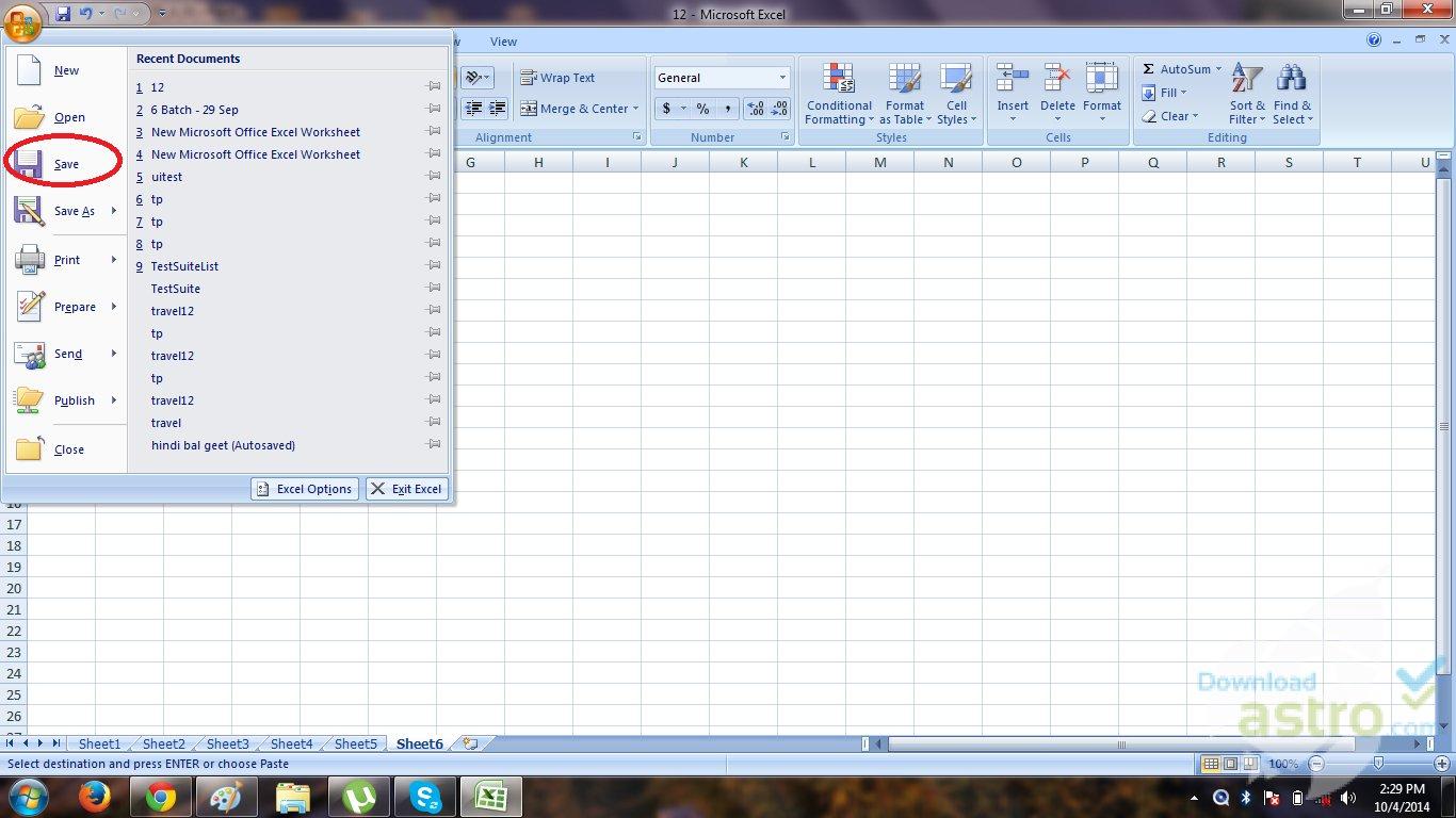 Excel Worksheet Download