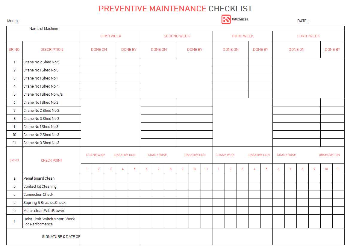Facility Management Template Excel