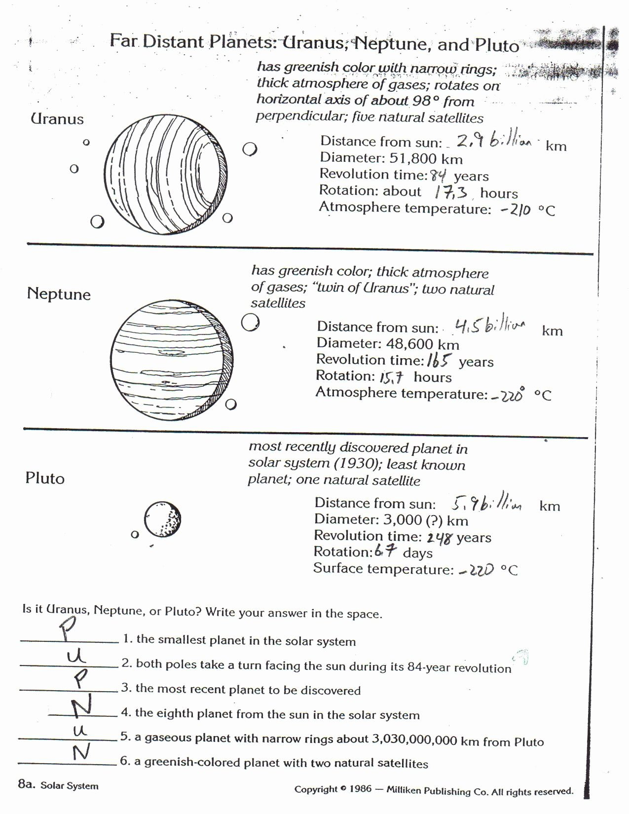 Magnetism Worksheet Answers