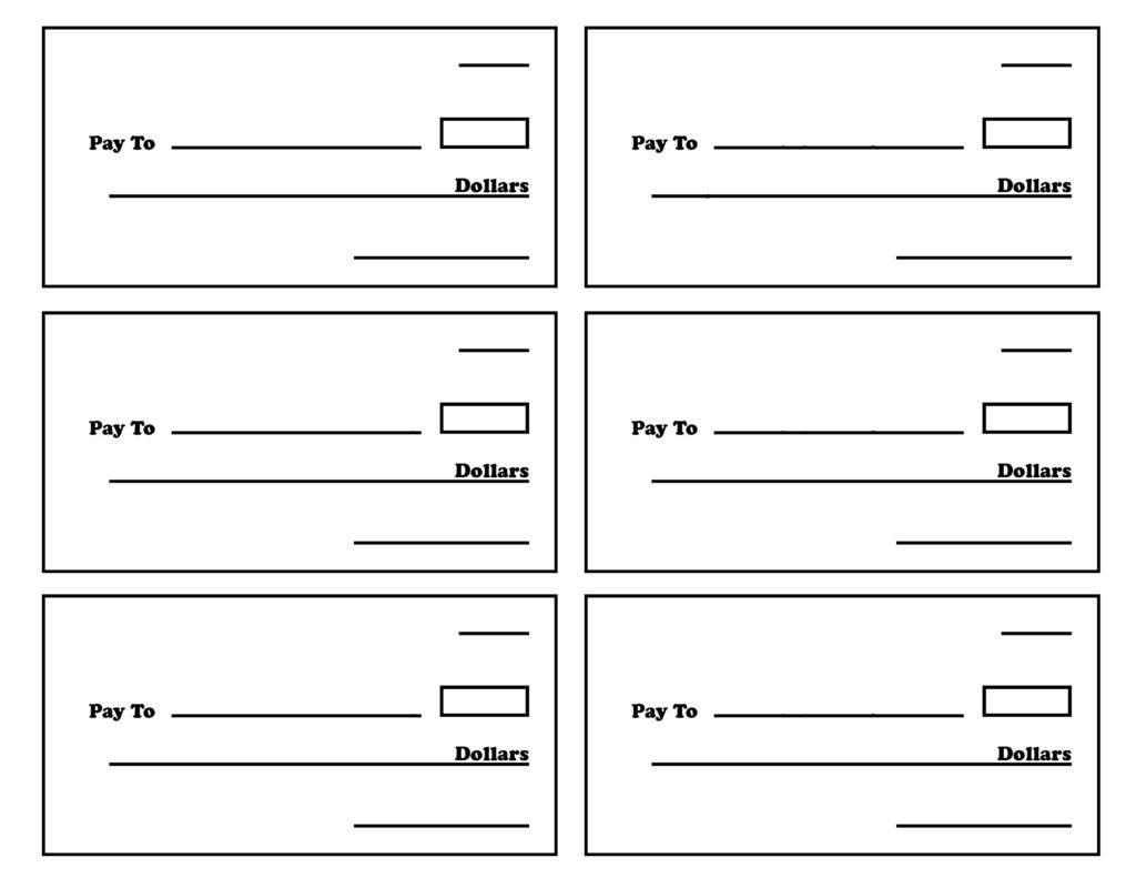 Blank Checks Worksheet Oaklandeffect Regarding Blank