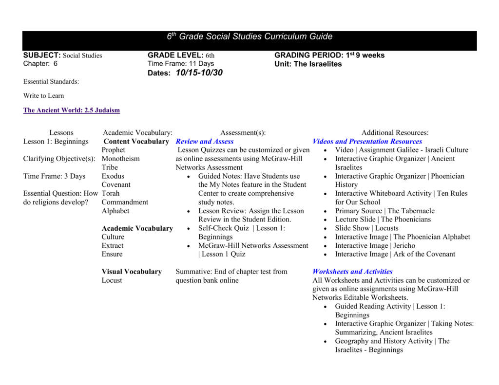 Mcgraw Hill Networks World History And Geography Worksheet