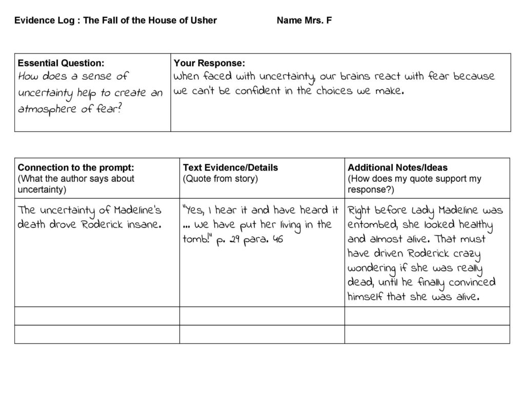 Combs High School Within Text Annotation Worksheet