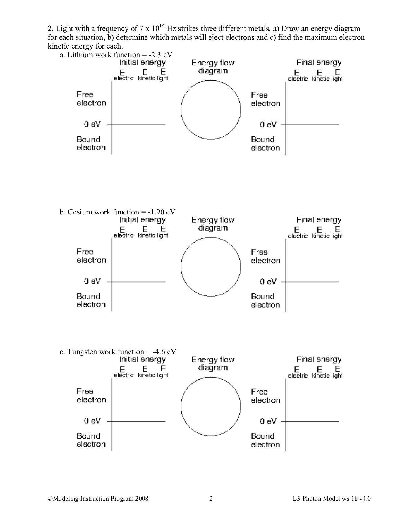 Electron Energy And Light Worksheet Answers