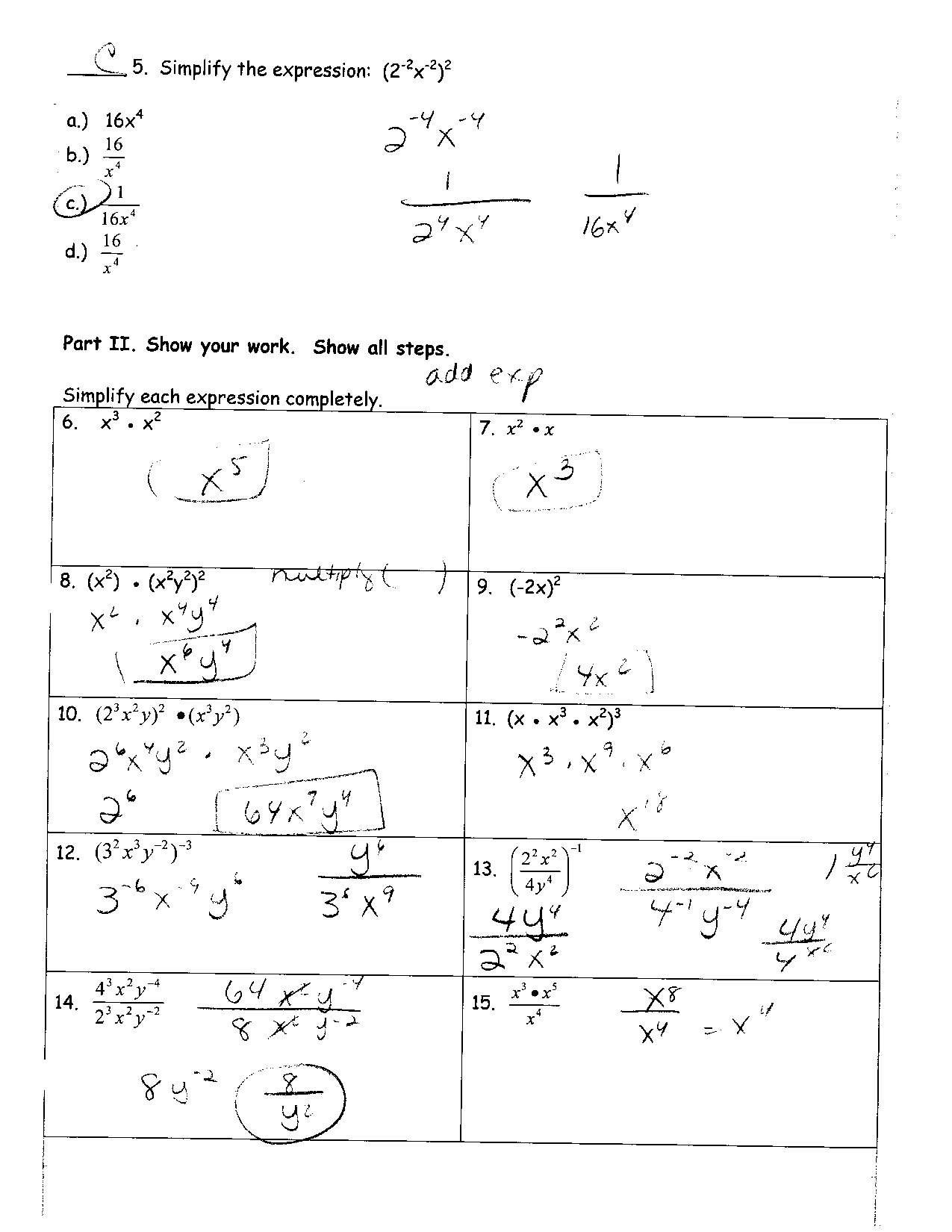 Unit 2 Worksheet 8 Factoring Polynomials Answer Key
