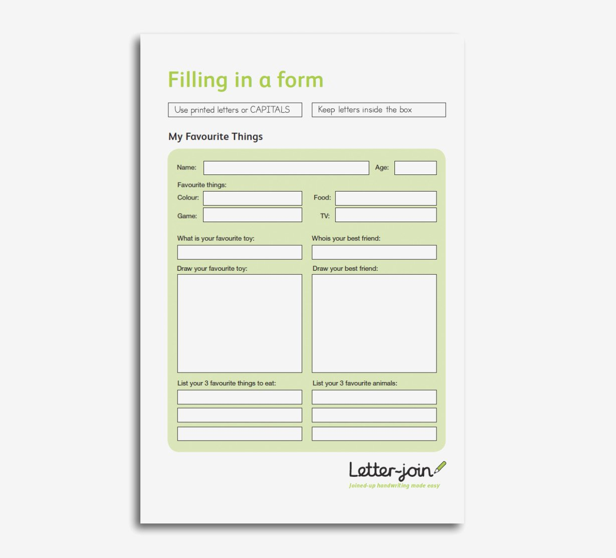 Esl Filling Out Forms Practice Worksheet