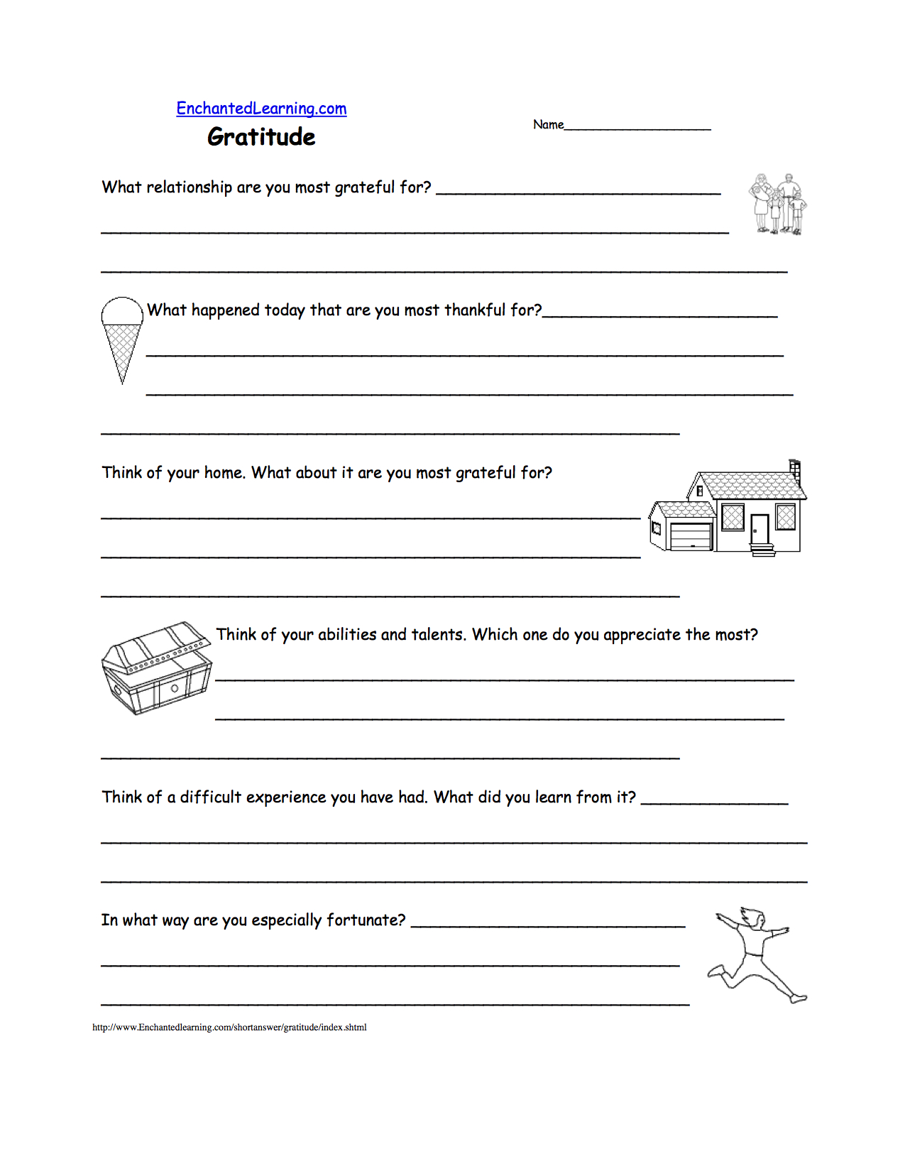 Avoiding Trouble Worksheets