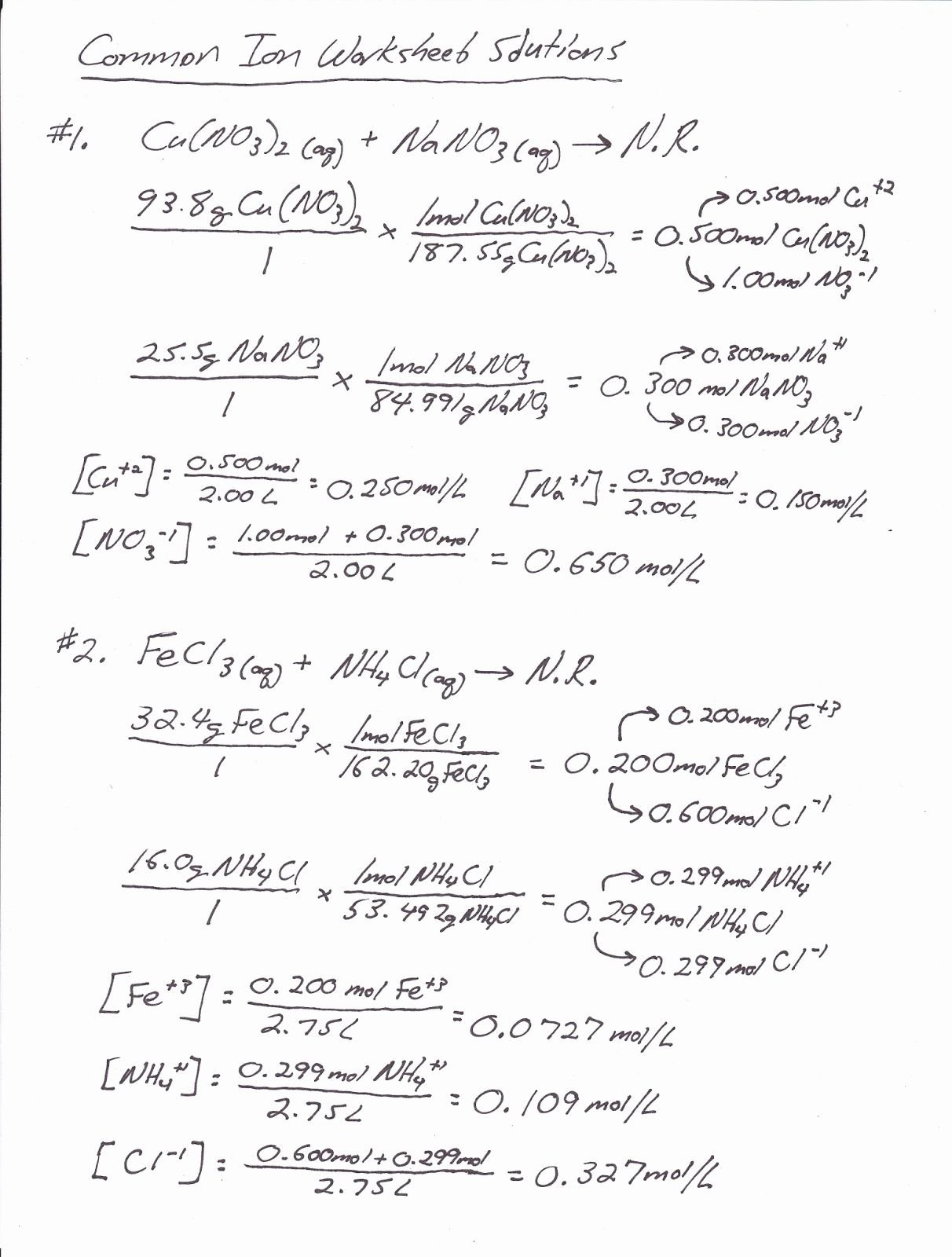 Worksheet Mole Mass Problems