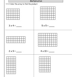 Array Model Multiplication Worksheets   Printable Worksheets and Activities  for Teachers [ 1584 x 1224 Pixel ]