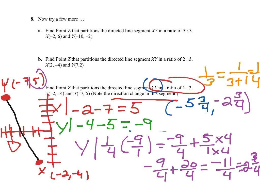Partitioning A Line Segment Worksheet