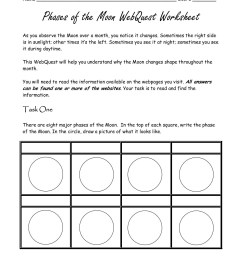 All Moon Phases Worksheets   Printable Worksheets and Activities for  Teachers [ 1800 x 1391 Pixel ]