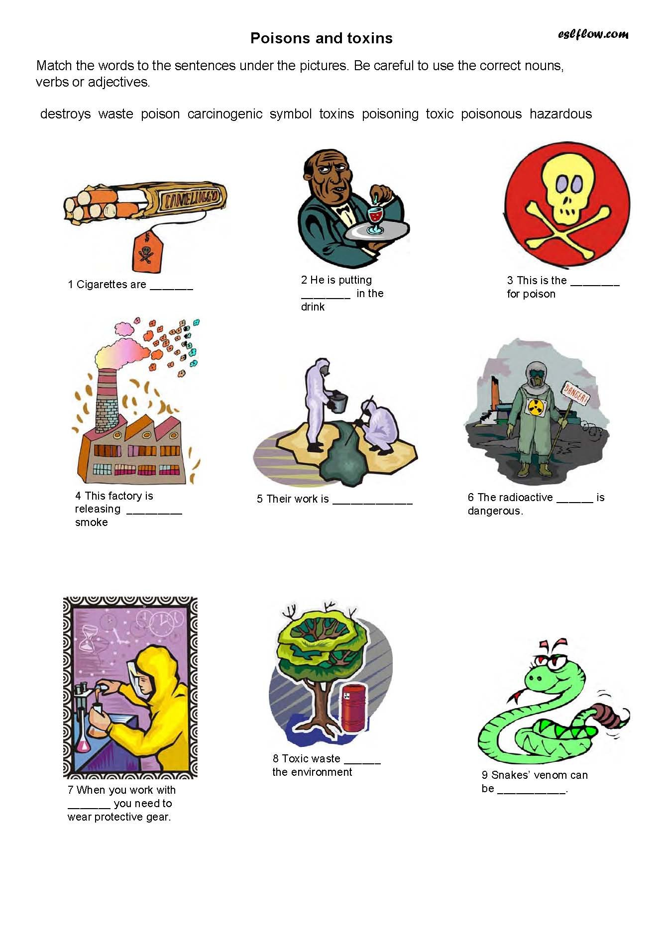 Poison Safety Worksheets