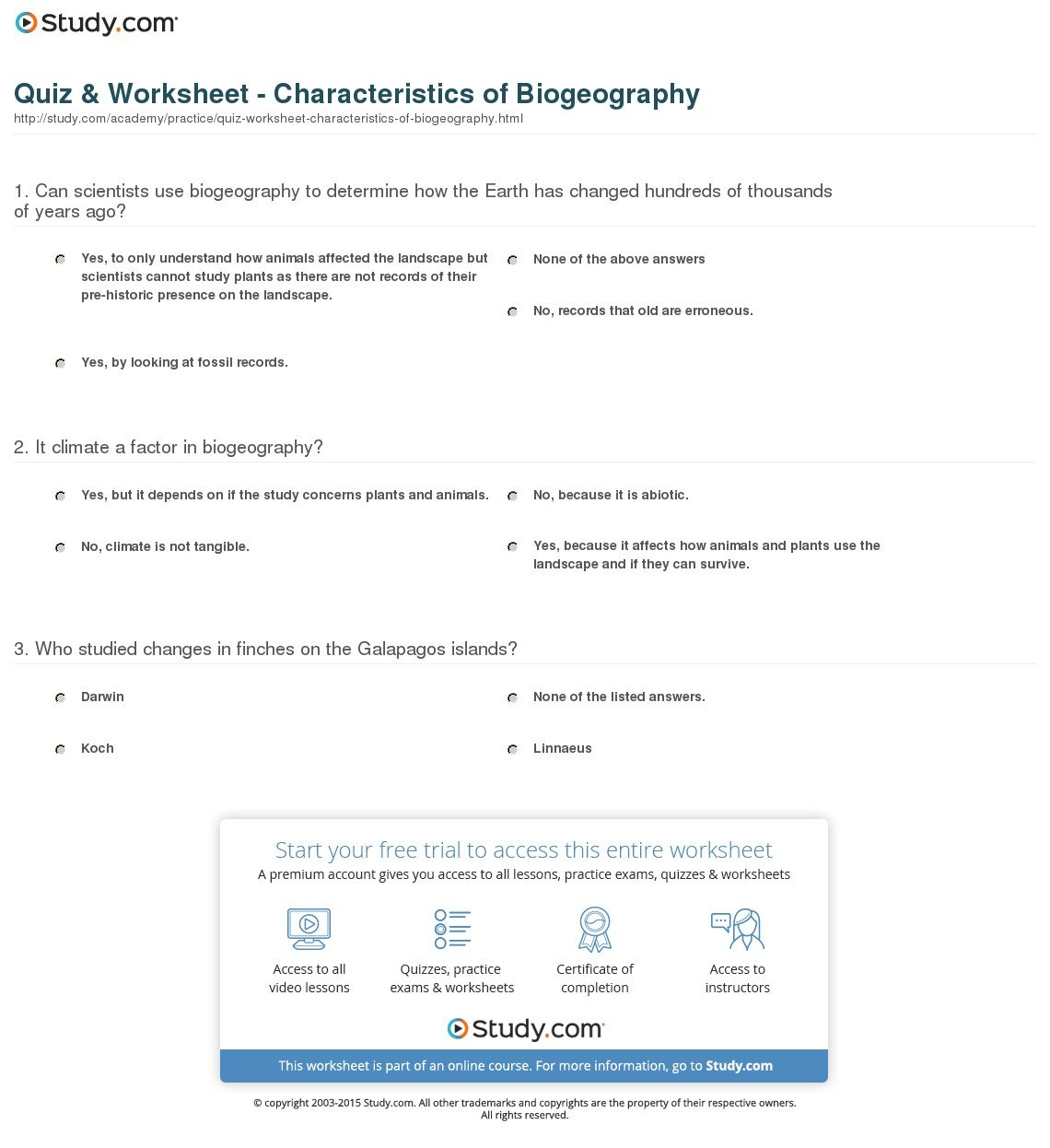 Galapagos The Islands That Changed The World Worksheet