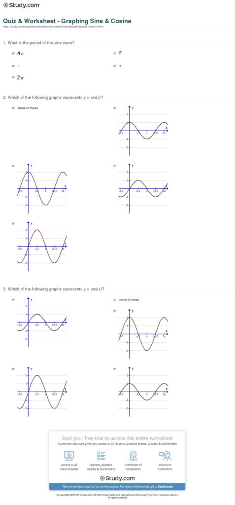 Graphing Sine And Cosine Practice Worksheet — excelguider.com