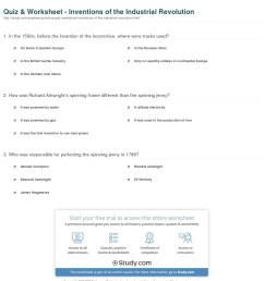 Industrial Revolution Printable Worksheet   Printable Worksheets and  Activities for Teachers [ 1317 x 1140 Pixel ]